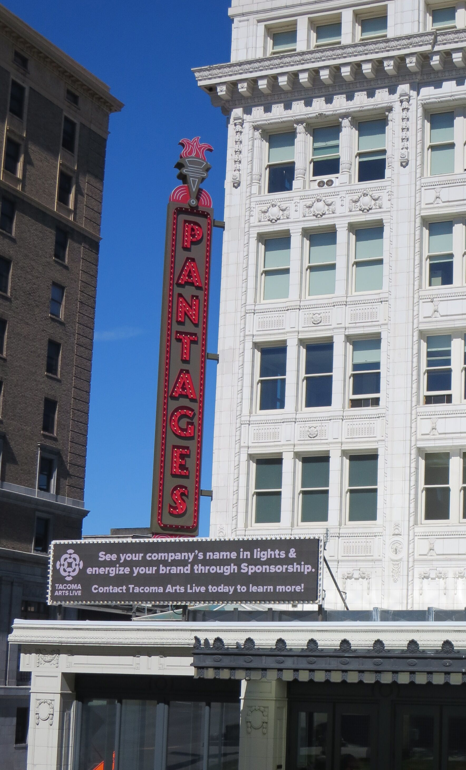 exterior image of the Pantages Theater