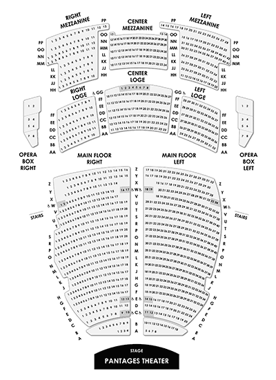 Pantages Theater Seating Chart for Tacoma Arts Live Events