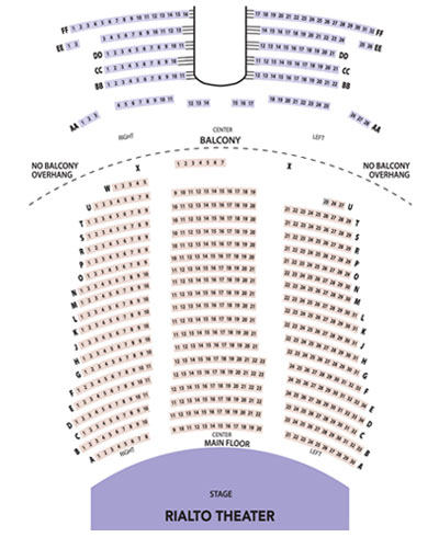 Rialto Theater Seating Chart for Tacoma Arts Live Events